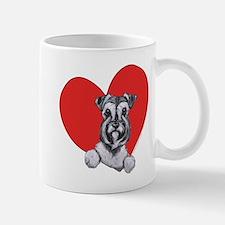 Schnauzer in Heart Mug