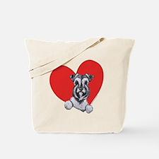Schnauzer in Heart Tote Bag