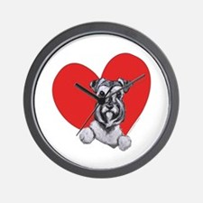 Schnauzer in Heart Wall Clock