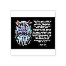 Black Elk Quote Rectangle Sticker