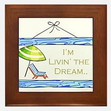 Livin' the Dream Framed Tile