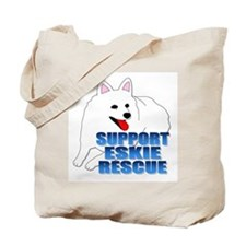 Support Eskie Rescue Tote Bag