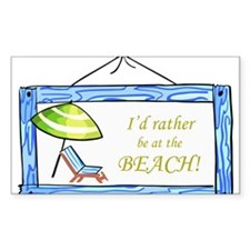 At the Beach Decal