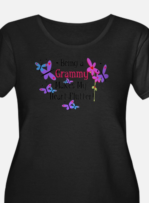 Grammy Heart Flutter Plus Size T-Shirt