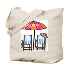 Umbrella and Chairs Tote Bag
