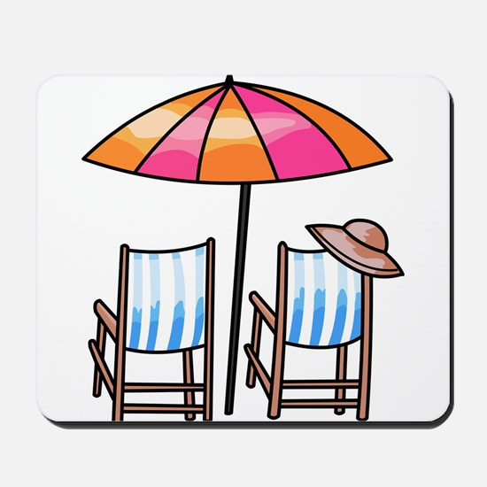 Umbrella and Chairs Mousepad