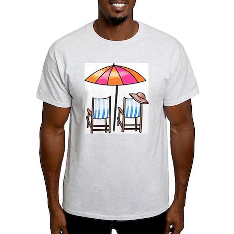 Umbrella and Chairs Light T-Shirt