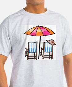 Umbrella and Chairs T-Shirt
