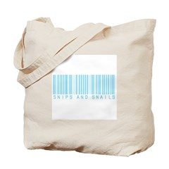 Snips And Snails (Barcode) Tote Bag