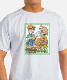 Summer fun! Water the garden and the dog! T-Shirt