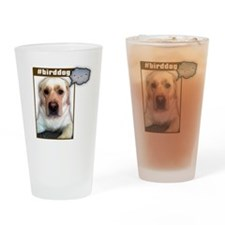 Lab dog twittering Drinking Glass