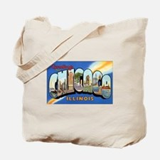 Chicago Illinois Greetings Tote Bag