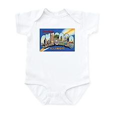 Chicago Illinois Greetings Infant Bodysuit