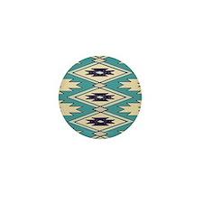 Native Chieftain Pattern Mini Button