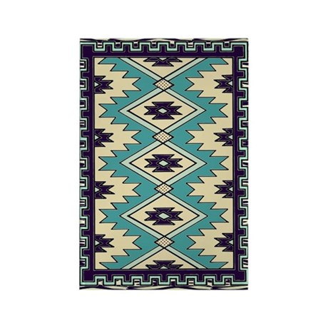 Native Chief Pattern Rectangle Magnet (10 pack)