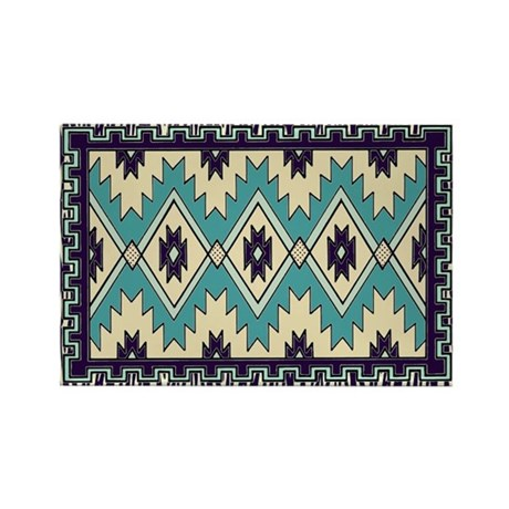 Native Chieftain Pattern Rectangle Magnet