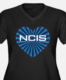 NCIS Heart Women's Plus Size V-Neck Dark T-Shirt