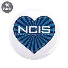 "NCIS Heart 3.5"" Button (10 pack)"