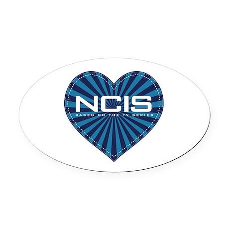 NCIS Heart Oval Car Magnet