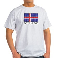Iceland Flag Ash Grey T-Shirt