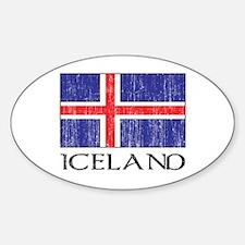 Iceland Flag Oval Decal