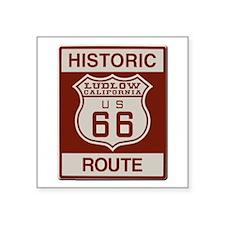 """Ludlow Route 66 Square Sticker 3"""" x 3"""""""