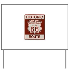 Ludlow Route 66 Yard Sign