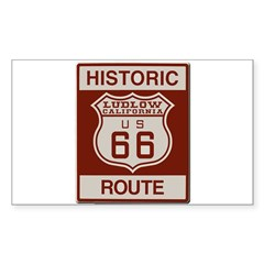 Ludlow Route 66 Sticker (Rectangle)