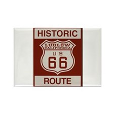 Ludlow Route 66 Rectangle Magnet