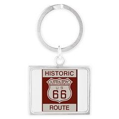 Ludlow Route 66 Landscape Keychain