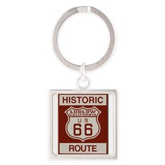 Ludlow Route 66 Square Keychain