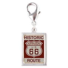 Ludlow Route 66 Silver Portrait Charm