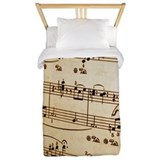 Music sheet twin duvet Duvet Covers