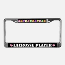 Lacrosse Player License Plate Frame