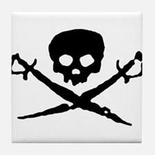 Jolly Roger Pirate Tile Coaster