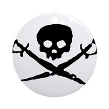 Jolly Roger Pirate Ornament (Round)
