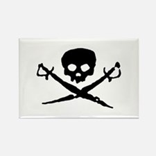 Jolly Roger Pirate Rectangle Magnet
