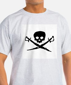 Jolly Roger Pirate Ash Grey T-Shirt