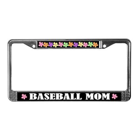 Baseball Mom License Plate Frame