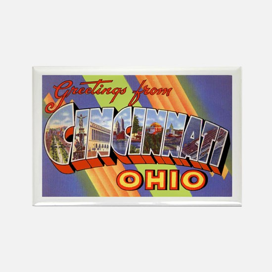 Cincinnati Ohio Greetings Rectangle Magnet