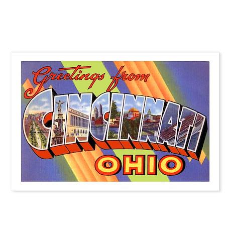 Cincinnati Ohio Greetings Postcards (Package of 8)