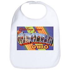 Cincinnati Ohio Greetings Bib