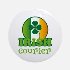 Irish Courier St Patricks Ornament (Round)