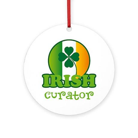 Irish Curator St Patricks Ornament (Round)