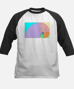 Golden Ratio spiral Kids Baseball Jersey