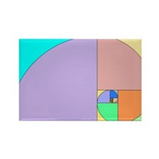 Golden Ratio spiral Rectangle Magnet