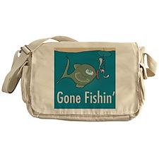 Gone Fishin, Funny Fishing Messenger Bag