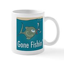 Gone Fishin, Funny Fishing Mug
