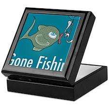 Gone Fishin, Funny Fishing Keepsake Box