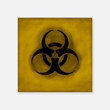 """Zombie Biohazard Square Sticker 3"""" x 3"""""""